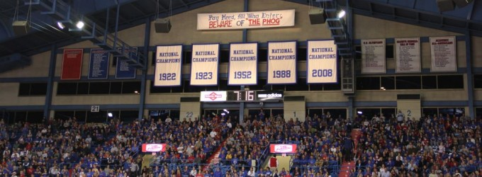 Picture of Championship Banners in Allen Fieldhouse