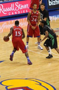 Elijah Johnson taking man off the dribble