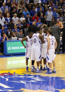 Jayhawk huddle