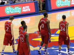 KU players in crimson